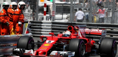 Monaco'da zafer Vettel'in